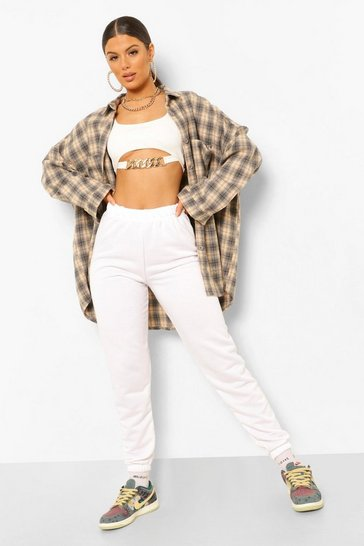 Ivory High Waist Casual Jogger