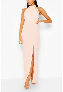 Blush High Neck Maxi Dress