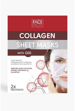 Face Facts Collagen & Q10 Sheet Mask, Red
