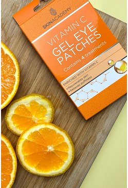 Skin Academy Gel Eye Patches - Vitamin C, Orange