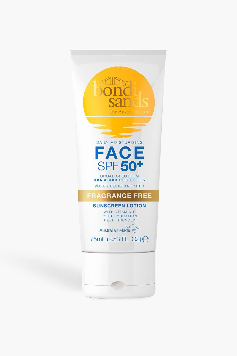 womens bondi sands sunscreen lotion spf50 face 75ml - brown - one size
