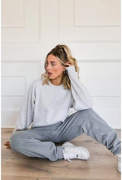 Basic Oversized Sweatshirt, Grey