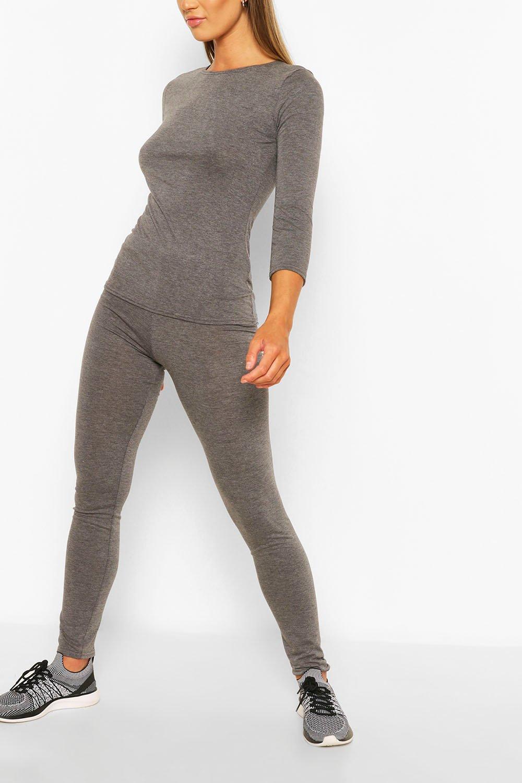 womens fit woman script gym leggings - grey - 6