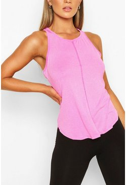 Pink Basic Gym Tank Top