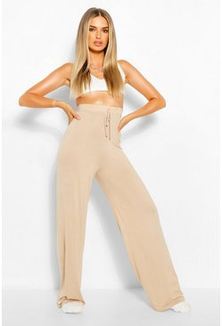 Stone Everyday Wide Leg Trouser