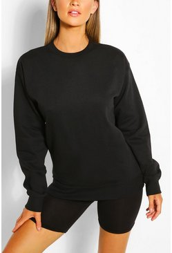 Black Recycled Oversized Sweatshirt