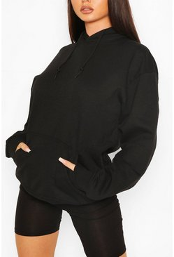 Black Recycled Oversized Hoodie