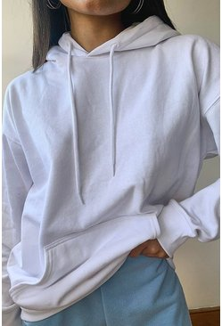 White Recycled Oversized Hoodie
