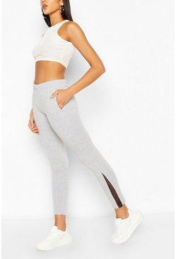 Grey Side Split Jogger