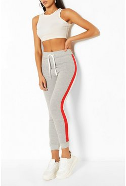 Side Stripe Colourblock Jogger, Grey