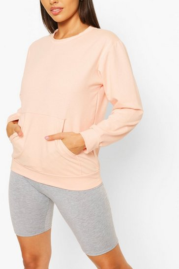 Pale pink Pocket Detail Sweat