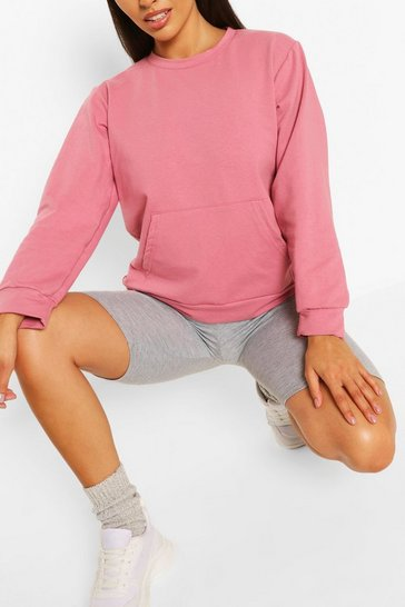 Rose Pocket Detail Sweat