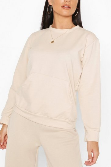 Stone Pocket Detail Sweat