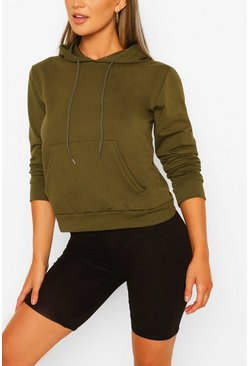 Pocket Detail Hoody , Khaki