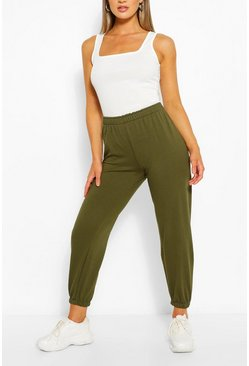 Khaki Oversized High Waisted Jogger