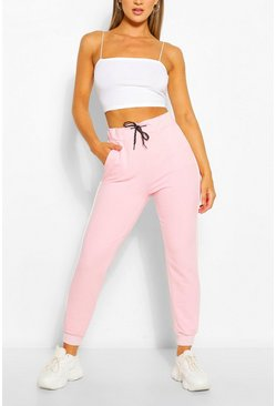 Pale pink Piping Detail Jogger