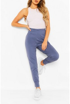 Blue Casual Lightweight Loopback Jogger