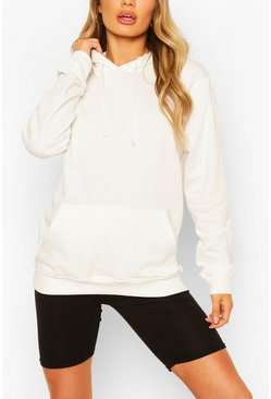 Off white Basic Boyfriend Hoody