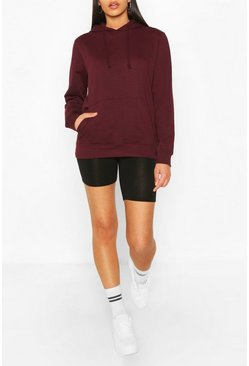 Burgundy Basic Boyfriend Hoody
