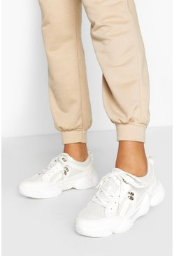 Cream Bubble Sole Chunky Trainers