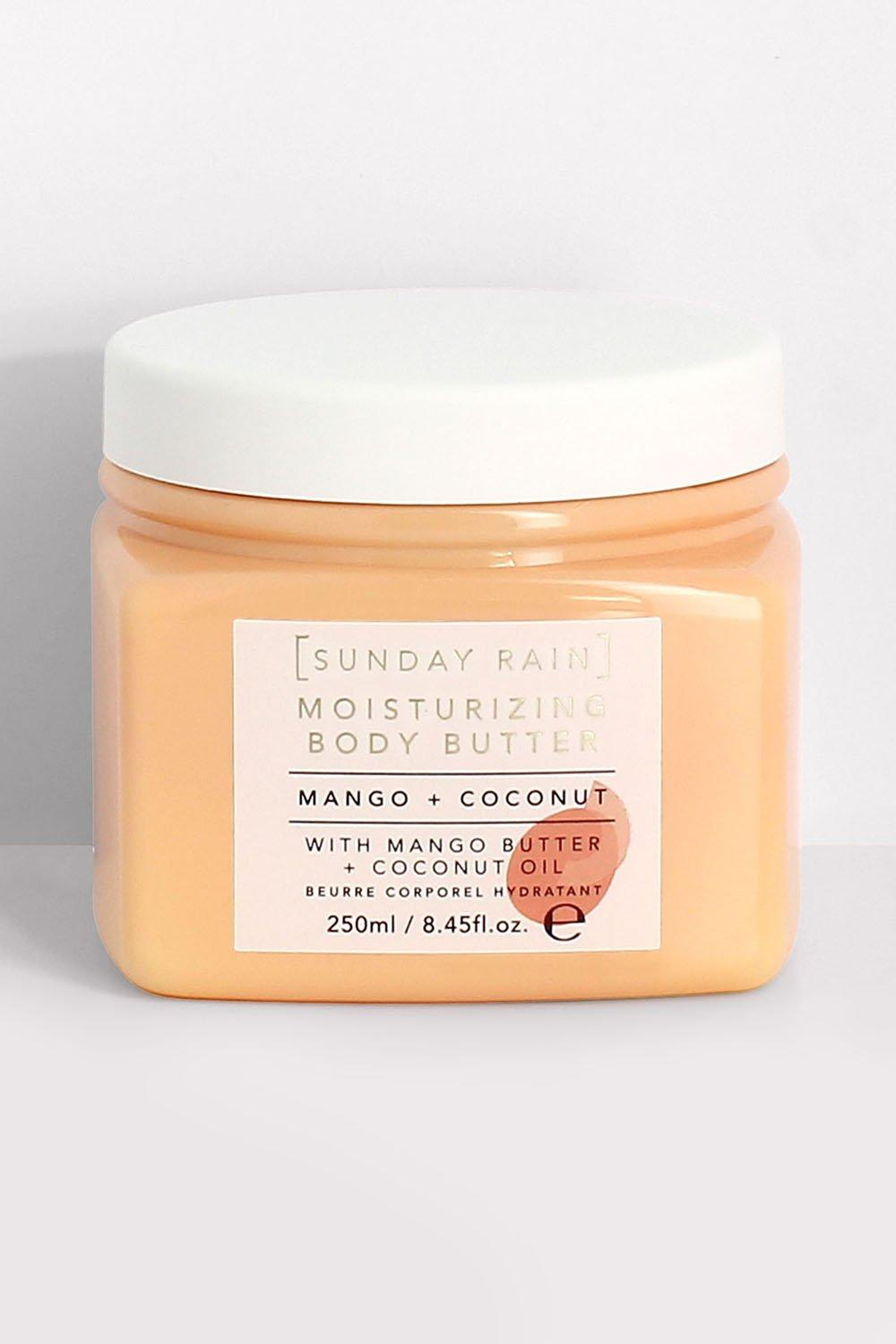 womens sunday rain mango & coconut body butter - orange - one size