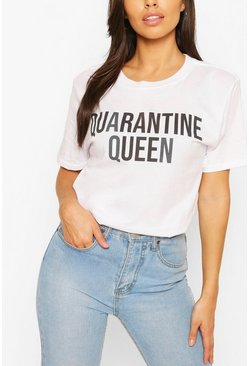 White Quarantine Queen Slogan Tee