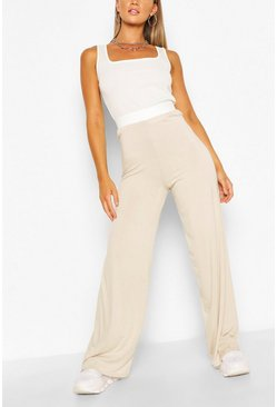 Stone Everyday Tonal Wide Leg Trouser