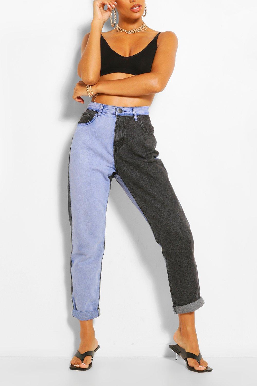 80s Jeans, Pants, Leggings Womens Contrast High Rise Mom Jean - Blue - 12 $25.00 AT vintagedancer.com
