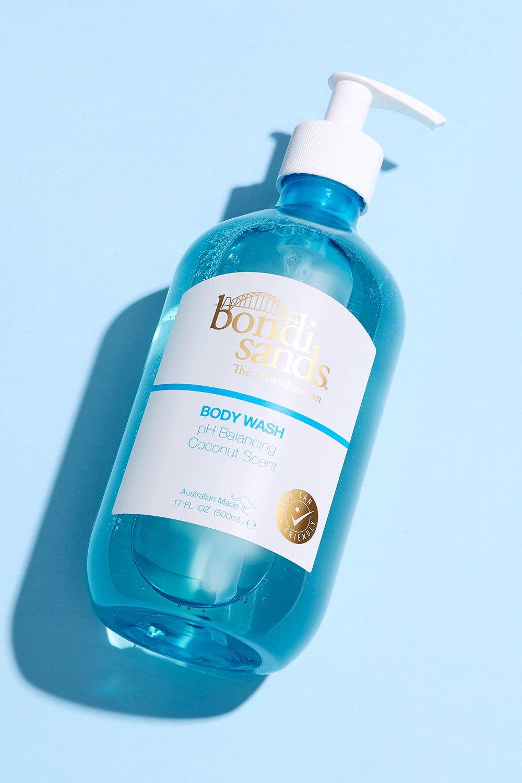 womens bondi sands body wash - coconut - blue - one size