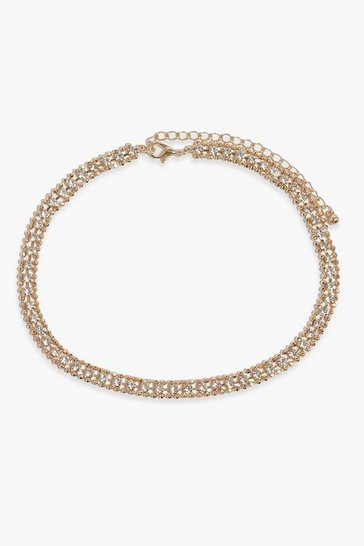 Gold Dainty Diamante Choker