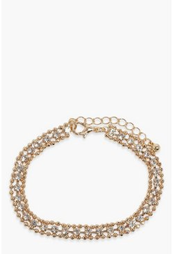 Gold Dainty Diamante Bracelet