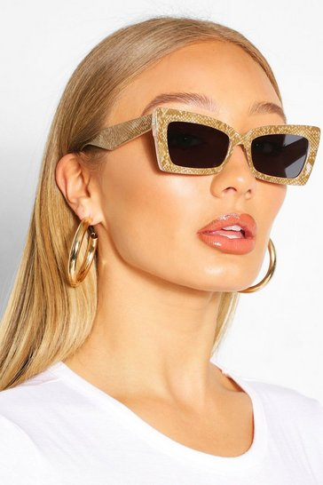 Black Snake Wrap Detail Sunglasses
