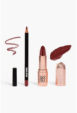 Kit de labios SOSU - Wild Thing, Rojo