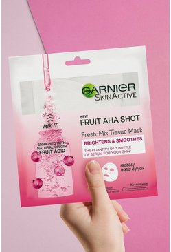 Pink Garnier Fresh-Mix Sheet Mask Fruit AHA Shot