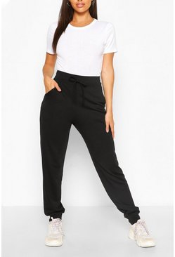 Black Soft Loopback Slouch Jogger