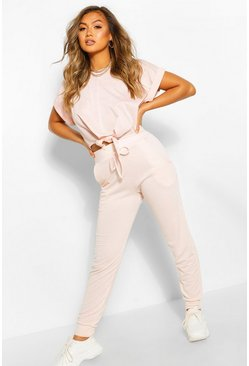Crystal pink Soft Loopback Slouch Jogger
