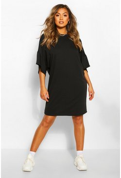 Black Soft Loopback Sweat Dress