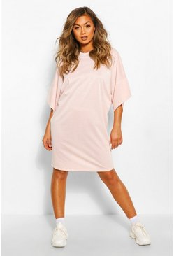 Crystal pink Soft Loopback Sweat Dress