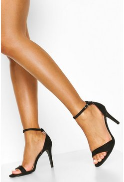 Black Basic 2 Part Heels