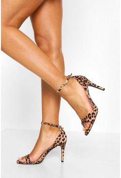 Leopard Basic 2 Part Heels