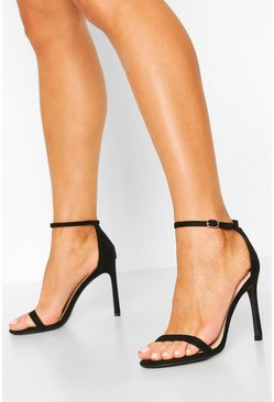 Black Basic Stiletto Heel 2 Parts