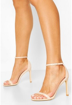 Nude Basic Stiletto Heel 2 Parts