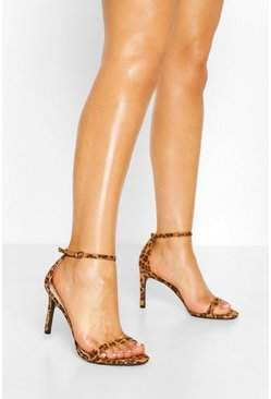 Leopard Basic Low Heel Stiletto 2 Parts
