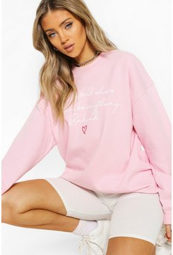 Pink 100% Proceeds Donated To Charity Sweat Shirt