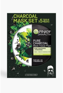 Black Garnier Charcoal & Algae Face Sheet Mask 5pk