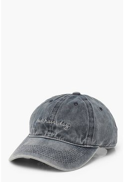 Blue Bad Hair Day Denim Cap