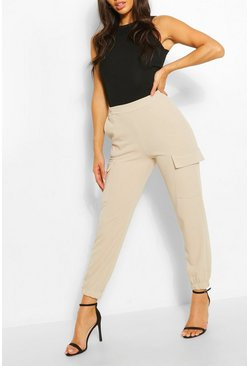 Stone Cargo Pocket Dress Pants