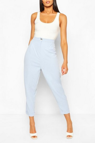 Light blue Turn Up Cuff Tailored Trouser