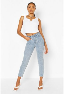 Light blue High Rise Classic Mom Jean