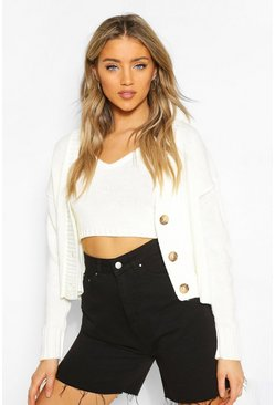 Ecru Cardigan & Bralet Knitted Co-Ord
